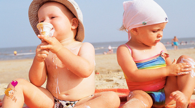 солнечный ожог у ребенка